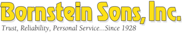 Bornstein Sons...Trust, Reliability, Personal Service...Since 1928