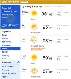 Hot Weather in Livingston NJ Air Conditioning Repairs