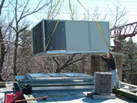 We can replace your air conditioning unit with a newer, more efficient one