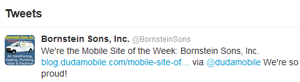 Today on Twitter .Bornstein Sons mobie website makes it easy to schedule service