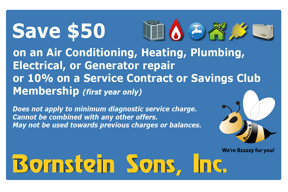 Save on repairs with Bornstein Sons  coupon today!