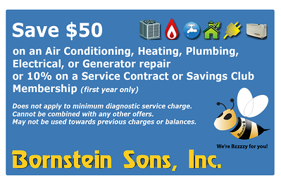 Save on repair with Bornstein Sons coupon today!